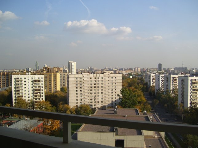 The Moscow skyline from our balcony