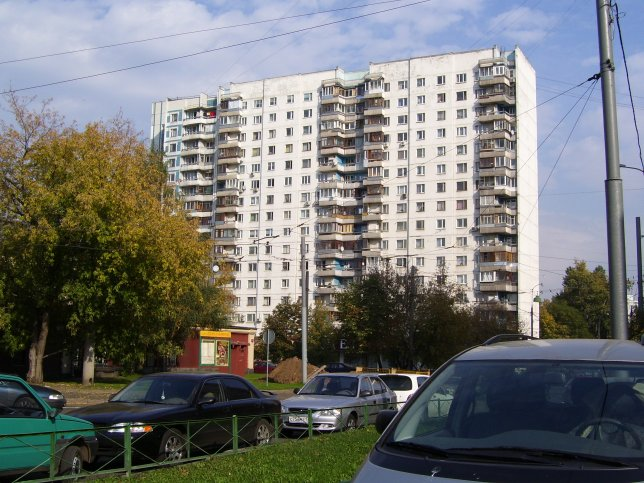 Typical Moscow apartment high-rise